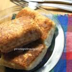 Krokiety z białym serem na waflu