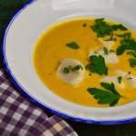 Zupa marchewkowa z przegrzebkami