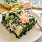 Lasagne ze szpinakiem i wędzonym łososiem (Lasagne con spinaci e salmone affumicato)