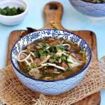 Zupa pieczarkowa z grzybami