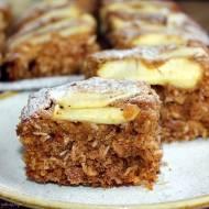 Ciasto owsiano-kokosowe z jabłkami (FIT)
