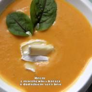 Krem z marchewki i batata z dodatkiem sera brie