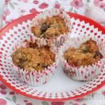Muffinki owsiano-bananowe z czekoladą