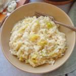 Risotto z gorgonzolą i kapustą (Risotto con gorgonzola e verza)