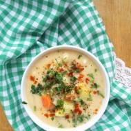 Zupa ziemniaczano-jarzynowa z serem / Potato Vegetable Soup with Cheese
