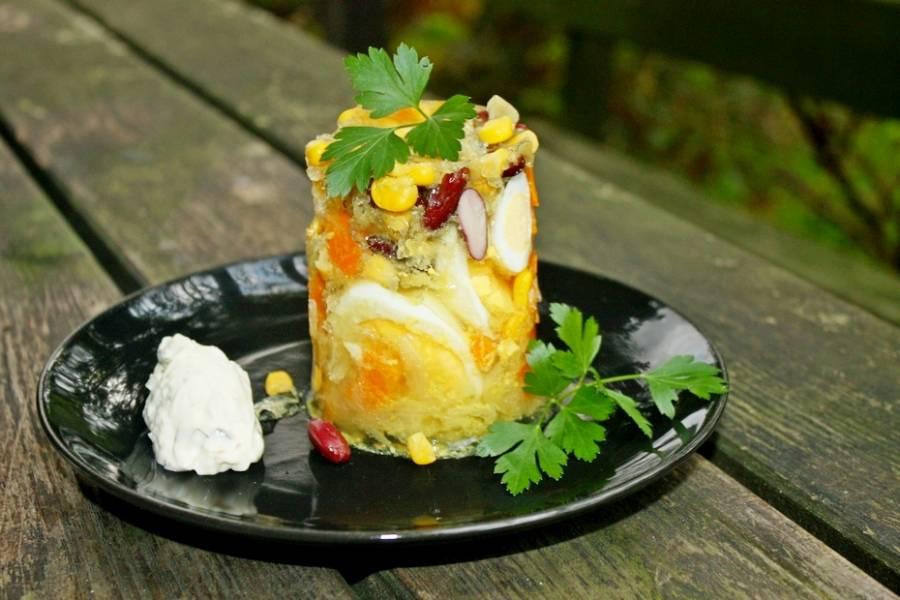 Jajka po meksykańsku w galarecie