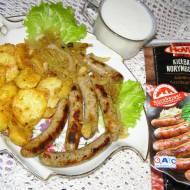 kiełbaski z ziemniakami na obiad...