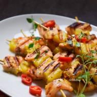 Szybkie szaszłyki z łososia i ananasa FIT