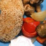 Kotlety z kaszy jaglanej w sezamowej panierce