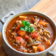 Zupa warzywna z mięsem mielonym na bogato