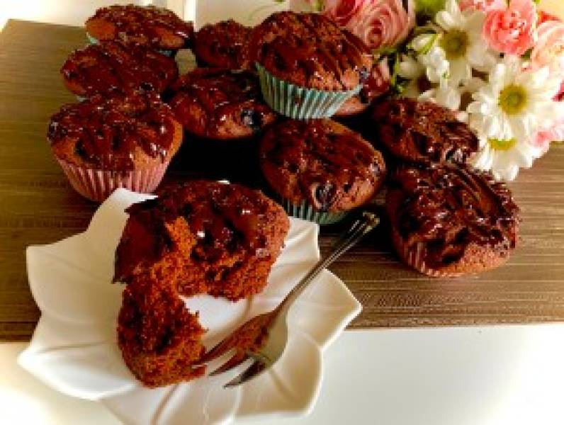 Wilgotne babeczki czekoladowe