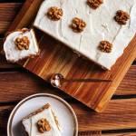 Ciasto marchewkowe z orzechami i imbirem