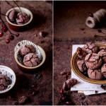 Popękane ciasteczka z suszonymi śliwkami / Cracked cookies with dried plums