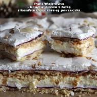 Pani Walewska - kruche ciasto z bezą i konfiturą z czarnej porzeczki