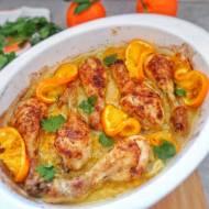 Pieczone pałki kurczaka w pomarańczach (Pollo al forno con arancia)