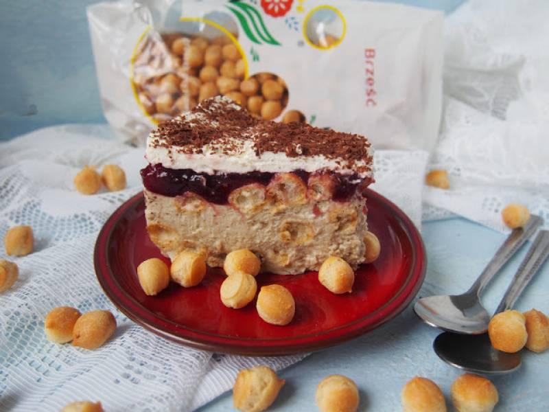 Ciasto chałwowo śmietankowe bez pieczenia