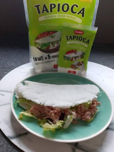 Wrap z Tapioki z lekką sałatką z tuńczykiem
