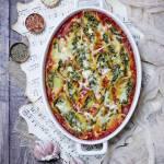 Conchiglioni (muszle) nadziewane szpinakiem i fetą