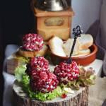 Karnawałowe kulki serowe z granatem