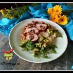 Roladki drobiowe nadziewane pieczarkami i serem mozarella