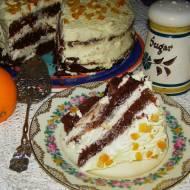 kakaowy piernik z pomarańczowym kremem z mascarpone...