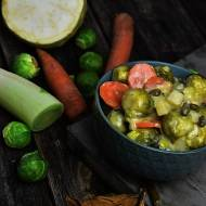Zimowe warzywa w sosie kaparowym