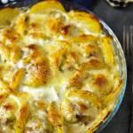 Zapiekanka z ziemniaków i klopsików