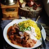 Bakłażanowe curry i ryż z kalafiora