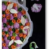 Tarta z kalafiorem marchewką i cukinią