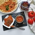 Wegańska pasta z ciecierzycy i suszonych pomidorów – przepis