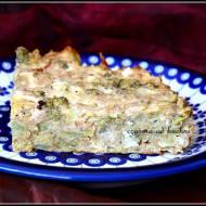 Zapiekanka z brokułem, fetą i ziemniakami