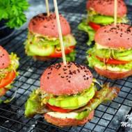 Wegetariańskie burgery z hummusem