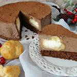 Tort czekoladowy z ptysiami