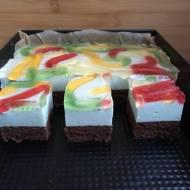 Ciasto kolorowa dżdżownica