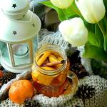 Korzenna herbata z syropem mandarynkowym