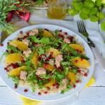 Sałatka z tuńczykiem, komosą ryżową i orzeźwiającymi owocami