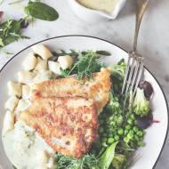 Ryba na obiad z gnocchi i cytrynowym sosem