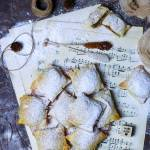 Ciastka francuskie z budyniem i jabłkami