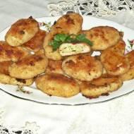Kotlety drobiowe z serem i majonezem z piekarnika