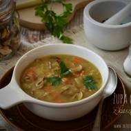 Zupa grzybowa z kaszą gryczaną – kuchnia podkarpacka