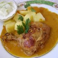 udka kurczaka w sosie marchewkowym...