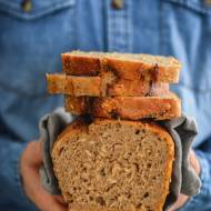 Najprostszy chleb na zakwasie. Orkiszowo- pszenny z miodem.