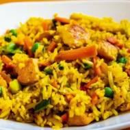 Ryż smażony z kurczakiem w curry