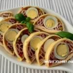 Galaretka z jajkiem ,szynką i serem