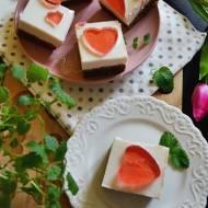 Kakaowe ciasto z pianką - Walentynkowe!
