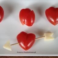 serduszka z pomidorów i winogron