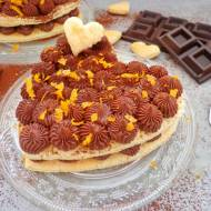 Słodkie co nieco na Walentynki - serce z ciasta francuskiego z kremem czekoladowo-pomarańczowym (Cuore di sfoglia con crema al c