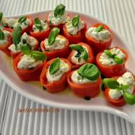 Papryczki nadziewane serem,czosnkiem i ziołami