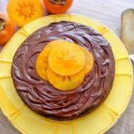 Czekoladowe ciasto z owocami kaki - persymony (Torta di cachi e cioccolato)