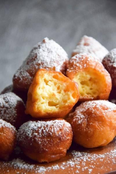 Orkiszowe frittelle di ricotta – mini pączki z ricotty bez cukru